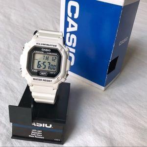 Casio White Digital Watch - New with Box